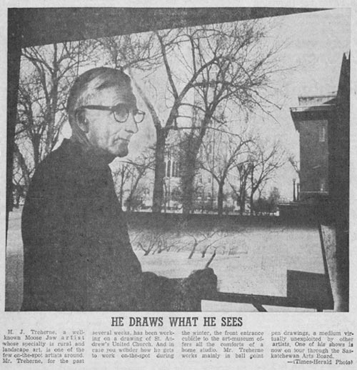 He Draws What He Sees - Moose Jaw Times-Herald 1968