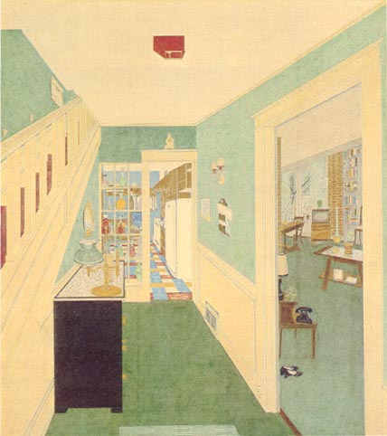 Harold J. Treherne -  Stairs, Hall, Kitchen and Dining Room, 1957